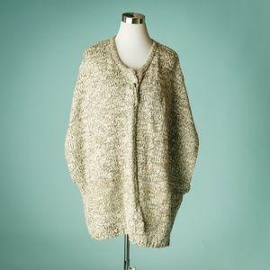 J Jill 1X-2X Pure Jill Cardigan Poncho Sweater
